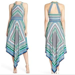 Eliza J Women's Halter Scarf Midi Dress size 8